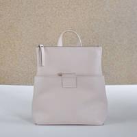 Женская кожаная сумка-рюкзак K-2 Nude бежевая