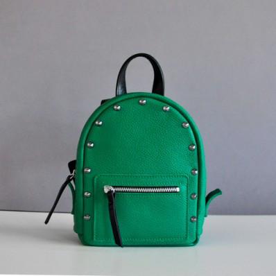 Женский кожаный рюкзак Baby Sport Rock Green зеленый