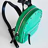 Женский кожаный рюкзак Baby Sport Rock Green зеленый, фото 5