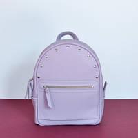 Женский кожаный рюкзак Sport R Lilac лиловый