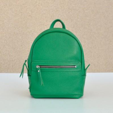 Женский кожаный рюкзак Sport Green зеленый