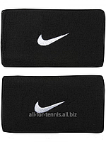 Hапульсники теннисные Nike Swoosh Wristbands Double Wide (2 шт.) Black/White