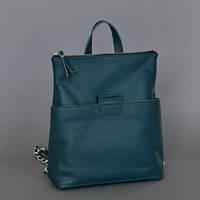 Женская кожаная сумка-рюкзак K-2 Emerald зеленая