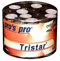 Намотки для тенниса, сквоша, бадминтона Pro's Pro Tristar 60 pack (30 black + 30 white)