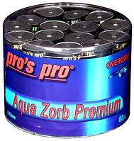 Намотки для тенниса, сквоша, бадминтона Pro's Pro Aqua Zorb Premium 60 pack black