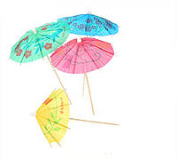 """Шпажки для канапе """"Зонтик"""", набор 144 шт."""