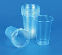 Стаканы прозрачные пластиковые одноразовые  80 мл-уп.100 шт.
