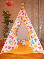"""Детский игровой домик, вигвам, палатка, шатер, шалаш """"Бабочки"""""""