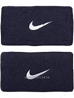 Hапульсники теннисные Nike Swoosh Wristbands Double Wide (2 шт.) Obsidian Blue