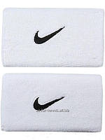 Hапульсники теннисные Nike Swoosh Wristbands Double Wide (2 шт.) White