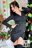 Платье-пиджак с отделкой пуговицами 1190 (АС!)