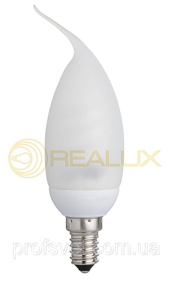 Лампа энергосберегающая Свеча на ветру силикон 9 вт Е14 2700к