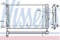 Радиатор охлаждения Фольксваген Пассат Б5 с конд. 1996-->2006 Nissens (Дания) 60299