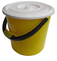 Ведро пластиковое пищевое 7 литров с крышкой