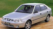 Автостекло на хендай акцент / Hyundai accent (седан, хетчбек) (1999-2005)