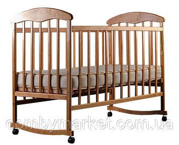 Детская кроватка Наталка, ольха светлая
