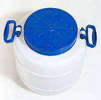 Бочка Пластмассовая (25 л) пищевая  с крылшкой