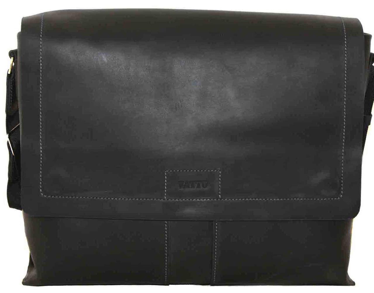 0fe692e94e43 Кожаная мужская сумка Mk34 чёрная матовая от интернет-магазина