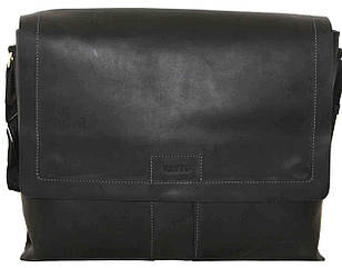 Кожаная мужская сумка Mk34 черная матовая