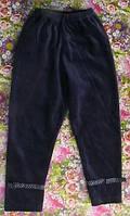 Леггинсы теплые для девочки велюровые с бантиком, рост 92