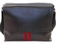 Кожаная мужская сумка Mk34 черная