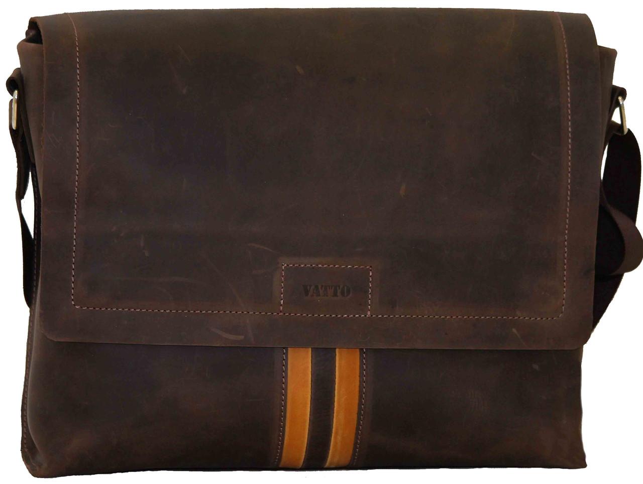 Кожаная мужская сумка Mk34 коричневая
