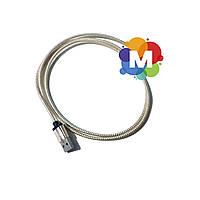 Кабель USB  microUSB, Gold/White, 1 м, алюминиевые коннектора, оплетка, Shrink