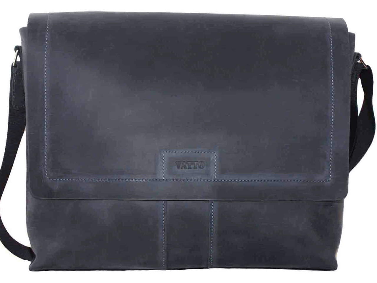 Кожаная мужская сумка Mk34 синяя