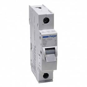 Автоматичні вимикачі (характеристика С) 6кА Hager 1-полюсні
