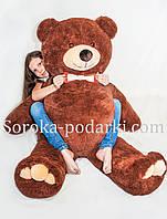 Мягкая игрушка медведь 160 см (бурый)