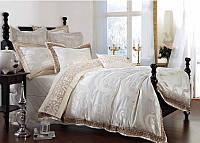 Жаккардовое постельное белье  Bella Villa J-0002