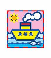 """Плоская пиктограмма """"Кораблик"""". Серия: Развивающие игры. Материал: картон + изолон"""