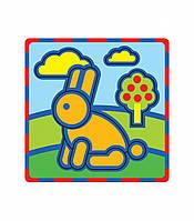 """Плоская пиктограмма """"Заяц"""". Серия: Развивающие игры. Материал: картон + изолон"""