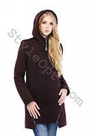 Зимнее женское кашемировое пальто с капюшоном