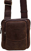 Кожаная мужская сумочка Mk12 коричневая