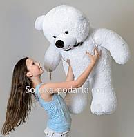 Плюшевый мишка 130 см (белый)