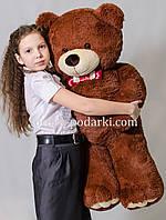 Красивый мягкий медведь 130 см (бурый)
