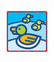 """Плоская пиктограмма """"Уточка"""". Серия: Развивающие игры. Материал: картон + изолон"""