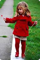 Пальто детское кашемировое с пуговицами P4136