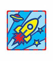 """Плоская пиктограмма """"Ракета"""". Серия: Развивающие игры. Материал: картон + изолон"""