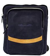 Кожаная мужская сумочка Mk12.2 синяя матовая