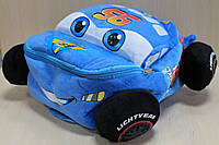 Детский мягкий рюкзак Маквин Тачки размер 32*15*30 см