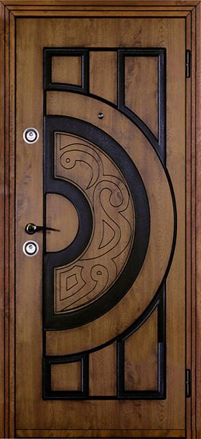 Двери входные Модель Джента Piatto (винорит и патина)