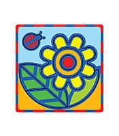 """Плоская пиктограмма """"Цветок"""". Серия: Развивающие игры. Материал: картон + изолон"""
