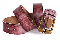 Современный кожаный ремень под джинсы