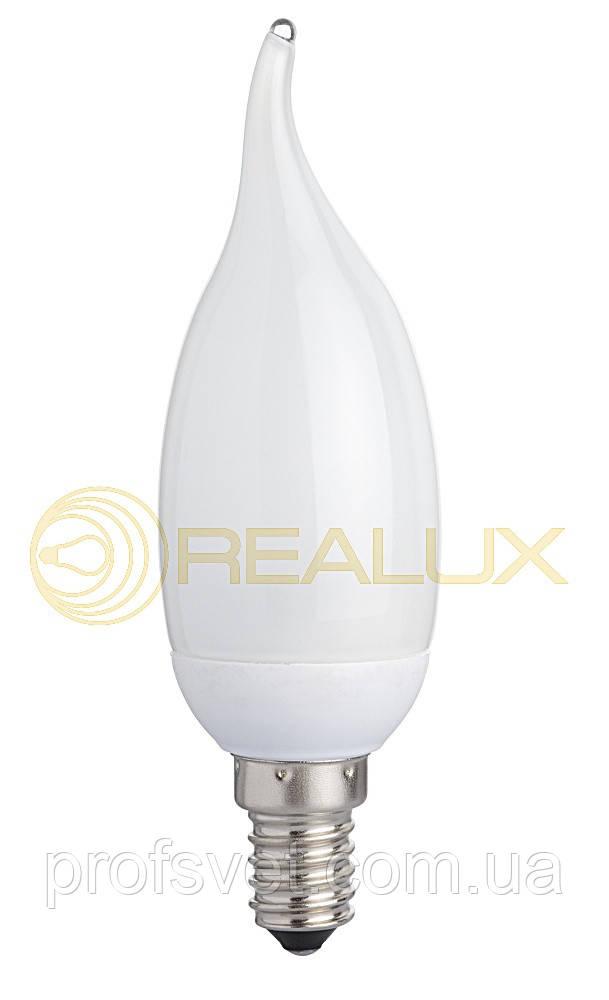 Лампа энергосберегающая Свеча на ветру 9 вт Е14 6400к