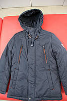 Куртка мальчик зима BLACK VINYL DC16-753 СИНИЙ