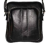 Кожаная мужская сумочка Mk48 черная