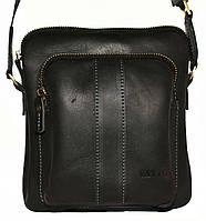 Кожаная мужская сумочка Mk48 черная матовая