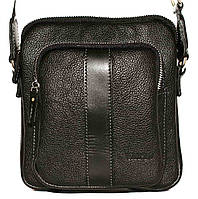 Кожаная мужская сумочка Mk48 черная флотар
